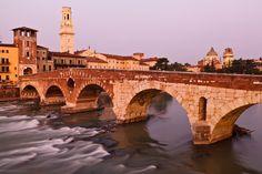 Bridge in Verona, - Bridge in Verona, Italy