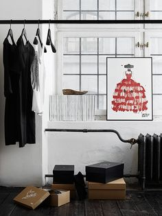 Fashion Illustrations In Fab Spaces other ideas decoration ideas photo Room Closet, Wardrobe Closet, Closet Space, Interior Design Pictures, Dream Decor, Home Hacks, Scandinavian Design, Decoration, Feng Shui