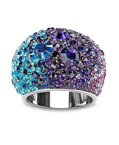 Swarovski Ring, Multicolor Crystal Ring