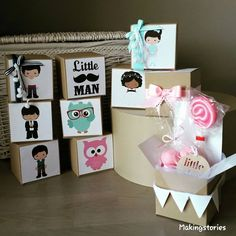 Craft boxes παιδικές μπομπονιέρες/boys & girls/owls/moustache/marshmallows/lollipops  Facebook:Making Stories  Instagram:makingstories_
