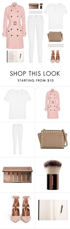 """""""..."""" by yexyka ❤ liked on Polyvore featuring Yves Saint Laurent, Burberry, J Brand, MICHAEL Michael Kors, Urban Decay, Hourglass Cosmetics and Aquazzura"""