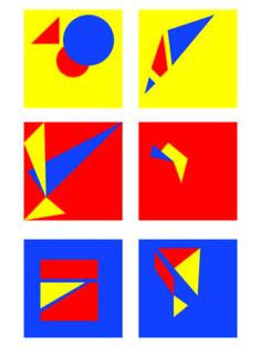 1. Kleur tegen kleur contrast