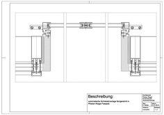 A-04-0010 automatische Schiebetüranlage feingerahmt in Pfosten-Riegel Fassade