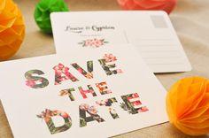 Save the Date Tropic, Les-Libellules. Invitation Fete, Invitation Design, Birthday Invitations, Wedding Invitations, Cheap Save The Dates, Save The Date Cards, Wedding Abroad, May Weddings, Wedding Prints