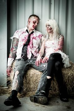 Zombies in Love Engagement Shoot: Dannielle & Andrew