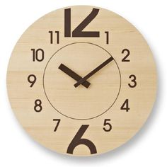 Lemnos 12 + 6 ( Twelve -plus- Six ) Wall Clock, Natural NT Home Clock, Diy Clock, Clock Decor, Modern Cuckoo Clocks, Wall Clock Design, Clock Wall, Laser Cutter Ideas, Kitchen Wall Clocks, Cool Clocks