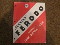 Ferodo #formula 1 disc #brake pads application #chart 280,  View more on the LINK: http://www.zeppy.io/product/gb/2/330412007289/