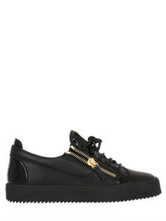 Giuseppe Zanotti Design - 20mm Leather & Patent Sneakers