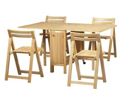 Folding Table And Chair Set Wooden