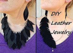 DIY Leather Jewely by CarissaKnits