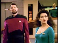 Screenshot of Will Riker and Deanna Troi on the bridge #imzadi