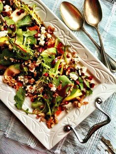 sweetsugarbean: Roasted Butternut Squash Salad with Pears & Blue Cheese
