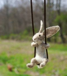Lila and Cloe: Cute rabbit necklace by MOTLEY MUTTON (Nancy Bevin...