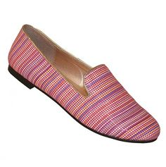 bright stripes smoking slippers