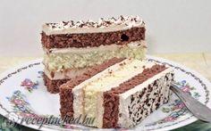 Mogyorós szelet Nagyanyótól recept fotóval Cake Recept, Cake Bars, Russian Recipes, Winter Food, No Bake Cake, Vanilla Cake, Nutella, Tiramisu, Deserts