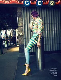 Jessica Pitti Gets Colorful for Yossi Michaeli in Elle Mexico June 2013   Fashion Gone Rogue: The Latest in Editorials and Campaigns