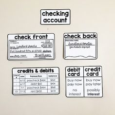 Financial Literacy Word Wall - check front and back Consumer Math, Math Word Walls, Psychology Programs, Teen Money, Math Words, Financial Literacy, E 10, Life Skills, Teaching Kids