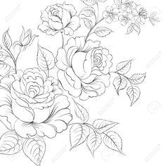 Букет из роз Iolated на белом фоне. Векторная иллюстрация. Клипарты, векторы, и Набор Иллюстраций Без Оплаты Отчислений. Image 28707036.