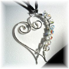 This would be really cute with birthstone colored crystals for a mother