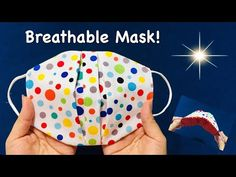 Breathable mask in a new style:The fabric does not touch the mouth area/Simple Tutorial/Make at home - YouTube Easy Homemade Face Masks, Easy Face Masks, Diy Face Mask, Boys Sewing Patterns, Beginner Sewing Patterns, Sewing Hacks, Sewing Tutorials, Sewing Crafts, Sewing Projects