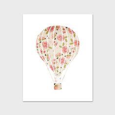 Nursery Art Print Hot Air Balloon Nursery от PaperCanoePrintables