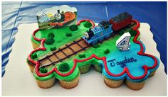 Jayden's Birthday And Letting Go Of Perfection · Kids Train Birthday Party Cake, Thomas The Train Birthday Party, Paw Patrol Birthday Cake, 3rd Birthday Cakes, Fourth Birthday, 4th Birthday Parties, Train Party, Birthday Ideas, Cake Party