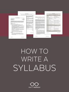 How to Write a Syllabus This model and template will help college, high school, and middle school teachers put together a syllabus that sets you and your students up for a great year. High School Syllabus, High School Classroom, Middle School Teachers, Art Syllabus, High School Curriculum, Art Curriculum, Classroom Themes, First Year Teachers, New Teachers