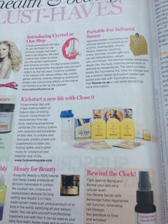 "Forever Clean 9 detox programme in Cosmopolitan's UK Easter 2014 issue ""Health & Beauty Must Haves"".  I lost 8.8 pounds in 9 days just by cleansing and detoxing my body with Clean 9. Gives you a great burst of energy, helps clear your body and skin from all the nasty toxins and leaves you feeling really good and healthy in general. http://zayne.myforever.biz/store"