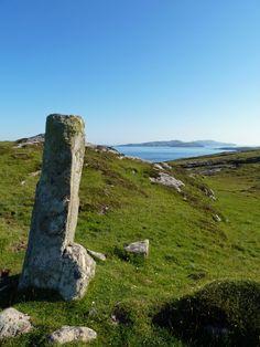 Isle of Vatersay - Standing Stone - Vatersay, Western Isles. SCOTLAND.