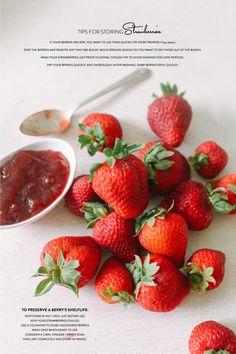 Tips for Storing Strawberries | Read more - http://www.stylemepretty.com/living/2013/07/03/tips-for-storing-strawberries/