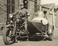 side car motorcycle - japanese soldier with a Kurogane side car motorcycle Model 97