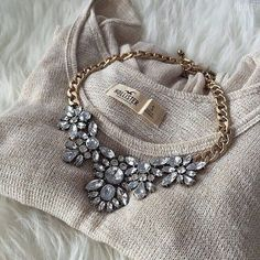 Glam And Glitter Statement Necklace #outfit #glam #chic #clear…