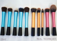 New Real Techniques brushes makeup Now the promotion, discount of $ 5 on their first purchase less than $ 40 or $ 10 on their first purchase over $ 40 with iHerb coupon OWI469 http://youtu.be/0Hm_BVy1UOQ Real Techniques Brushes Dupes from Ebay #realtechniques #realtechniquesbrushes #makeup #makeupbrushes #makeupartist #brushcleaning #brushescleaning #brushes