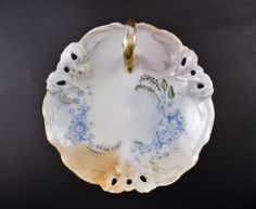 Ph. Rosenthal Iris Bavaria Hand Painted Signed by Artist and Dated 06 Lemon Dish #PhRosenthal