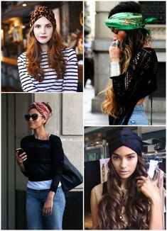 To cover yr bad hair day Hair Scarf Styles, Curly Hair Styles, Natural Hair Styles, Bad Hair, Hair Day, Short Fille, Mode Turban, Mode Hippie, Corte Y Color