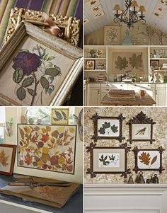 Decorating ideas for pressed leaves