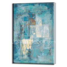 Pintada a mano Abstracto Pinturas de óleo,Modern Un Panel Lienzos Pintura al óleo pintada a colgar For Decoración hogareña 2017 - $1114.12
