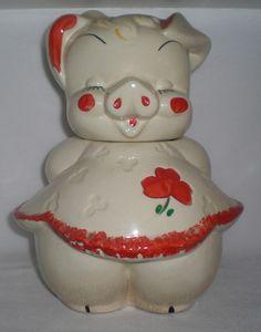 American Bisque Ballerina Pig (cookie jar)
