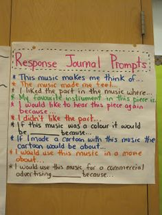 Piano Ear Training Music in the City: Responding to Music - The Listening Framework Music Anchor Charts, Middle School Choir, Professor, Elementary Music Lessons, Primary Lessons, Elementary Schools, Music Classroom, Classroom Ideas, Disney Classroom