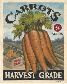 Fresh Carrots Posters van K. Tobin bij AllPosters.nl