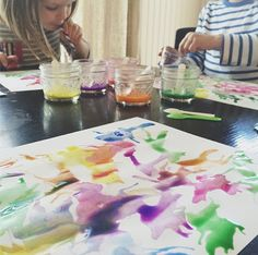 super easy art with kids: straw painting