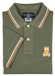 Psycho Bunny Mens Neon Tipping Polo Clover 6L * Click on the image for additional details. (This is an affiliate link) #PoloShirtsForMen
