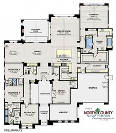 apartment floor plans New luxury homes in San Diego at Artesian Estates. 4 to 7 bedroom homes in Del Sur. See all new construction homes in San Diego North County. Family House Plans, Barn House Plans, New House Plans, Dream House Plans, House Floor Plans, My Dream Home, San Diego, The Plan, How To Plan
