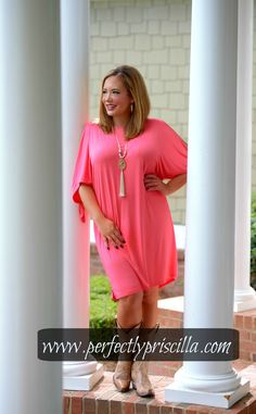 #curvy #look #fashion #coral #dress #plus #plussize