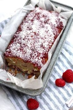 raspberry-coconut-loaf-cake-recipe-jam-british-bake-off Desserts Raspberry Coconut Loaf Cake - The Lovecats Inc Raspberry And Coconut Cake, Coconut Loaf Cake, Coconut Desserts, Raspberry Recipes, Coconut Recipes, Jam And Coconut Cake, Raspberry Zinger Cake, Best Coconut Cake Recipe, Strawberry Cakes