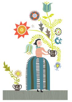 Christine Stalder Illustration Folk Art