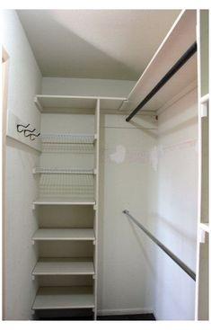 Small Master Closet, Walk In Closet Small, Walk In Closet Design, Tiny Closet, Bedroom Closet Design, Master Bedroom Closet, Closet Designs, Diy Bedroom, Corner Closet