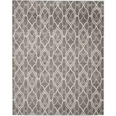 Safavieh Indoor/ Outdoor Amherst Grey/ Light Grey Rug (10' x 14') | Overstock™ Shopping - Great Deals on Safavieh 7x9 - 10x14 Rugs