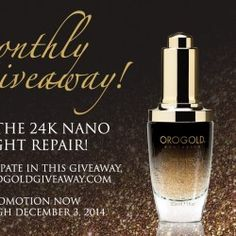 win 24K Nano Night Repair ^_^ http://www.pintalabios.info/en/fashion-giveaways/view/en/2572 #International #Cosmetic #bbloggers #Giweaway