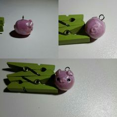 Little piggy of polymer clay #handmade